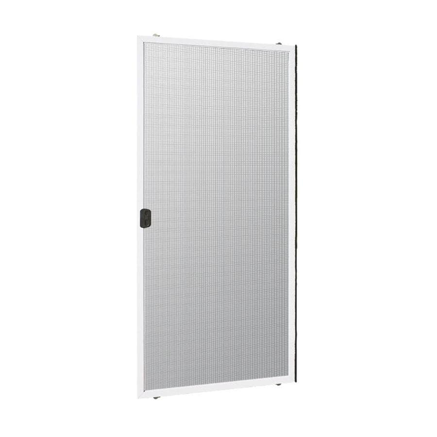 Shop reliabilt 312 series white aluminum sliding screen for Double sliding screen door