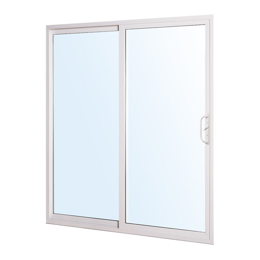 ReliaBilt 332 Series 70.75-in Clear Glass White Vinyl Sliding Patio Door