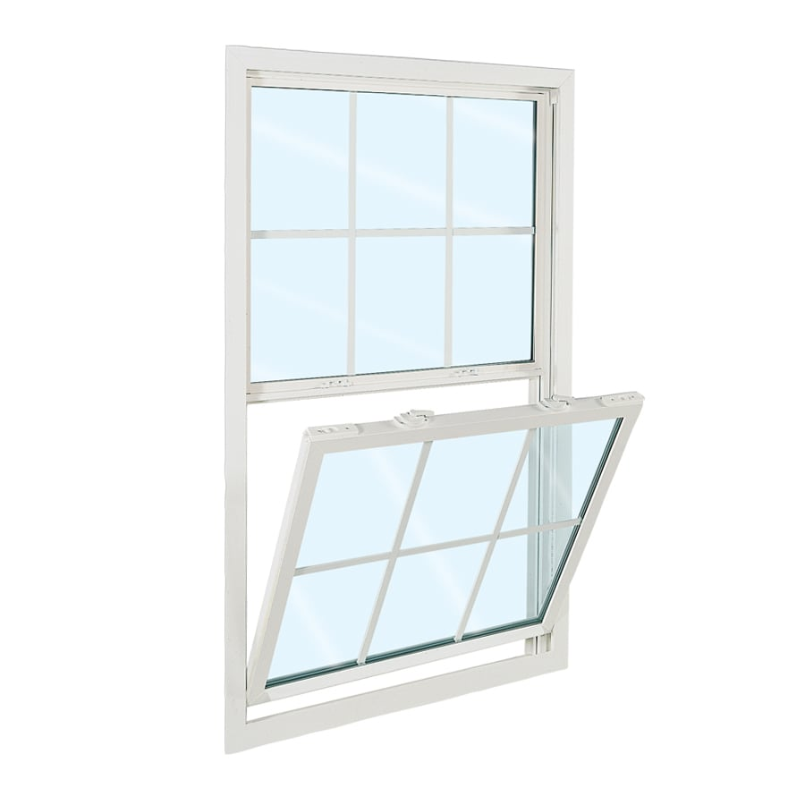 ReliaBilt 3100 Series Vinyl Double Pane Single Strength Replacement Mobile Home Single Hung Window Works with Iris (Rough Opening: 28-in x 54-in; Actual: 27.5-in x 53.5-in)