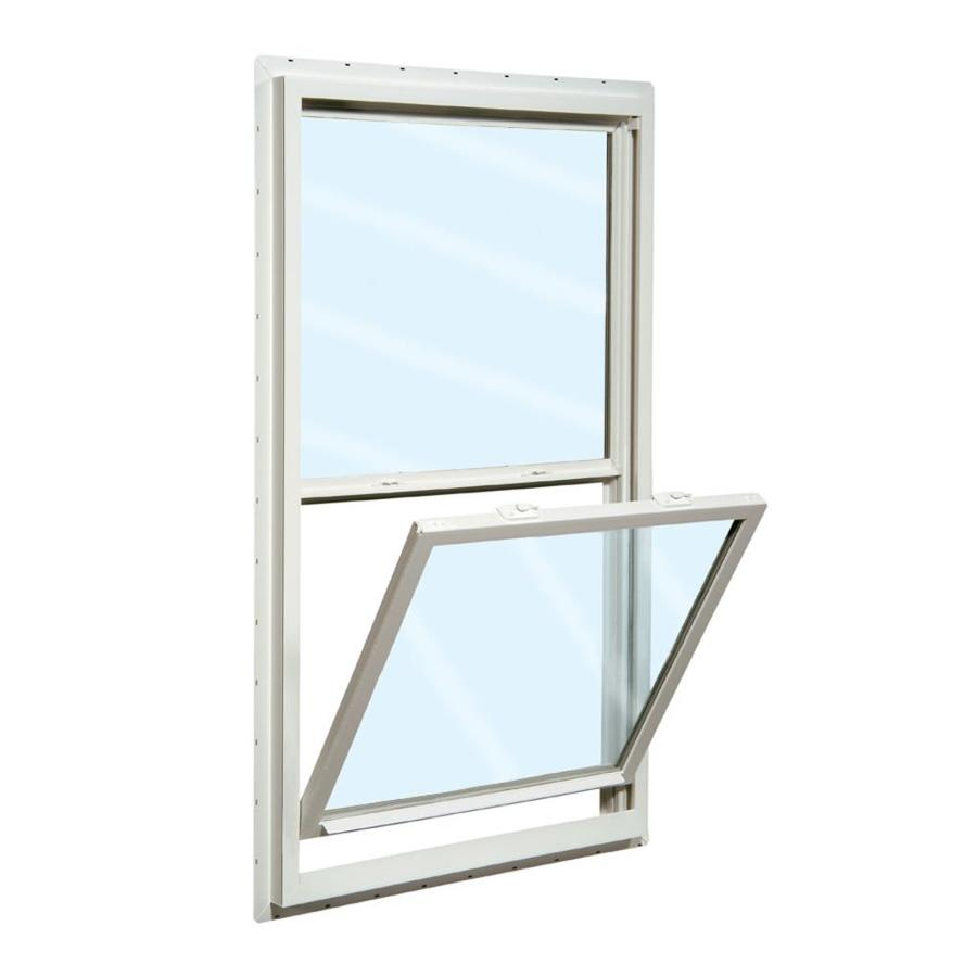 ReliaBilt 150 Series Vinyl Double Pane Single Strength Single Hung Window (Rough Opening: 36-in x 54-in; Actual: 35.5-in x 53.5-in)