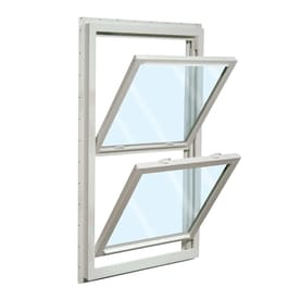 wincore windows reviews reliabilt 455 vinyl new construction white exterior double hung window rough opening 32 windows at lowescom