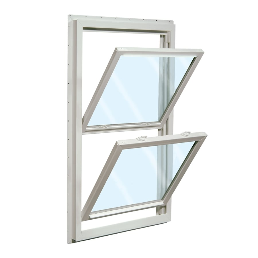 ReliaBilt 455 Vinyl Double Pane Single Strength New Construction Double Hung Window (Rough Opening: 28-in x 54-in; Actual: 27.5-in x 53.5-in)