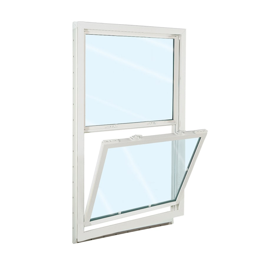 ReliaBilt 3100 Series Vinyl Double Pane Single Strength Replacement Mobile Home Single Hung Window Works with Iris (Rough Opening: 32-in x 36-in; Actual: 31.5-in x 35.5-in)