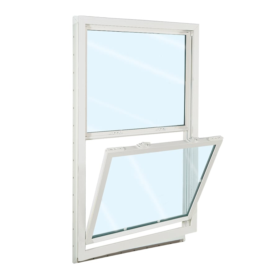 ReliaBilt 3100 Series Vinyl Double Pane Single Strength Replacement Mobile Home Single Hung Window Works with Iris (Rough Opening: 32-in x 54-in; Actual: 31.5-in x 53.5-in)