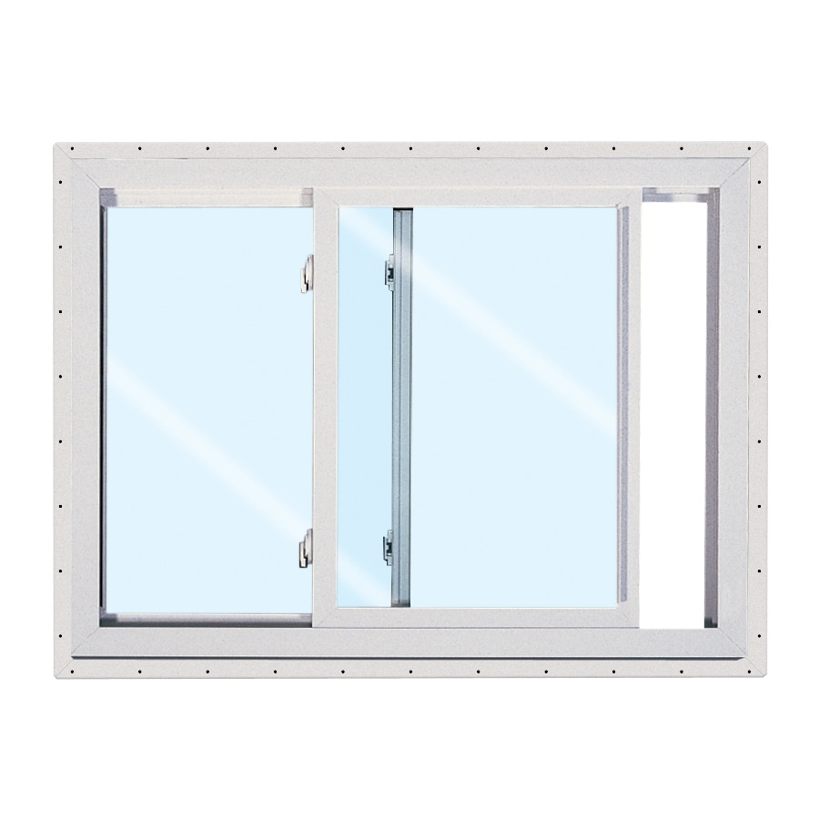 Shop reliabilt 151 left operable vinyl double pane single for Double pane sliding glass door
