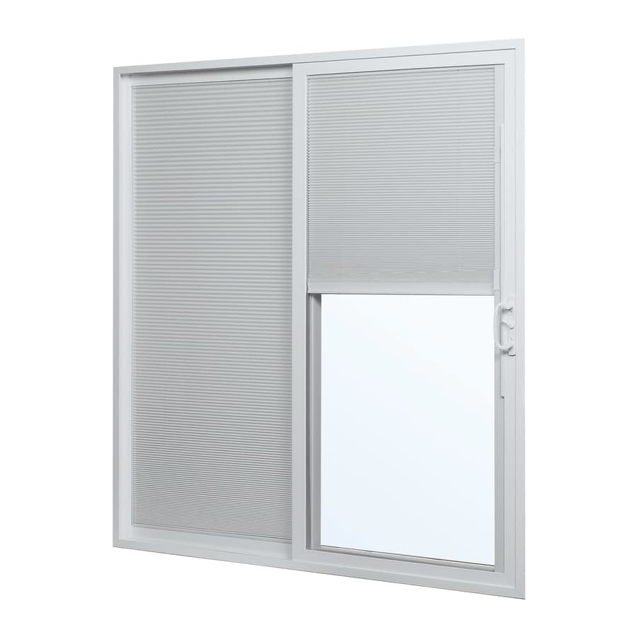 ReliaBilt 300 Series 70.75-in Blinds Between the Glass White Vinyl Sliding  Patio Door - Shop ReliaBilt 300 Series 70.75-in Blinds Between The Glass White