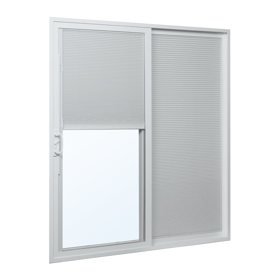 reliabilt 332 series 7075in blinds between the glass white vinyl sliding patio door