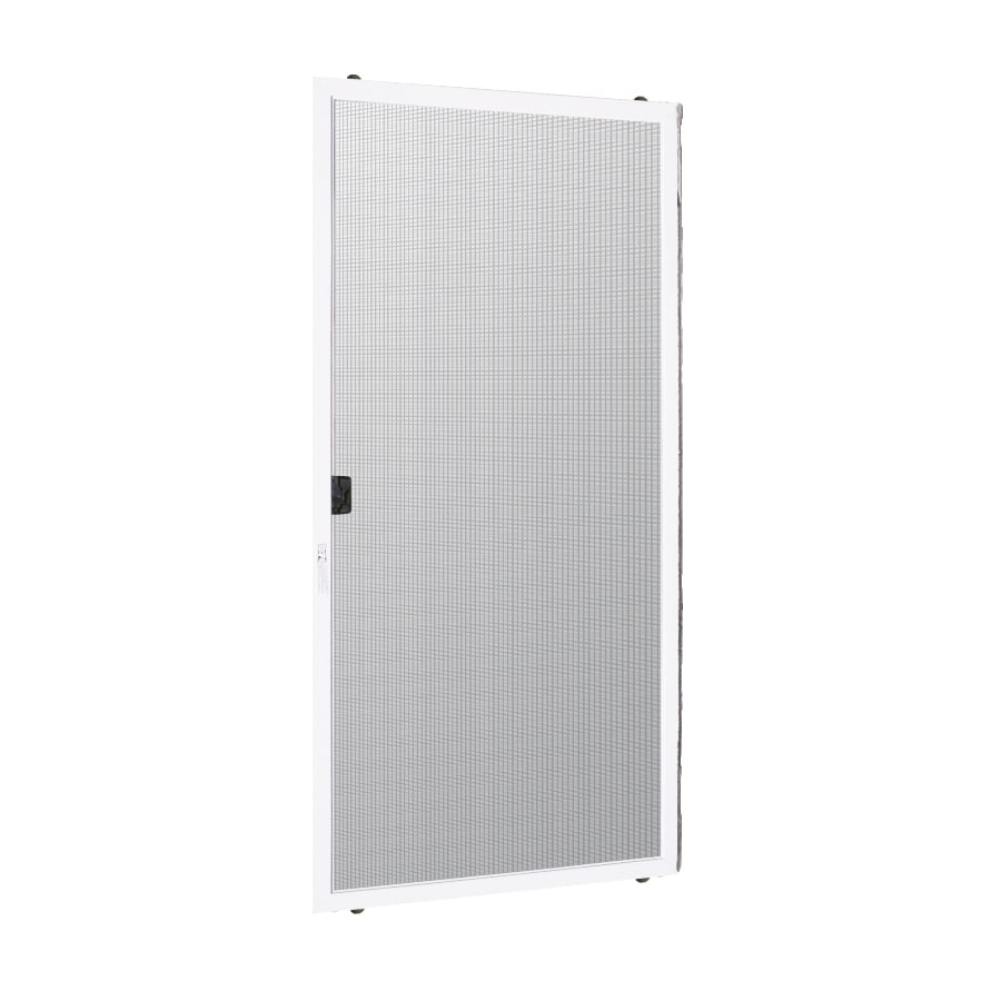 ReliaBilt White Aluminum Sliding Screen Door (Common: 72-in x 80-in; Actual: 36.5-in x 77.5-in)