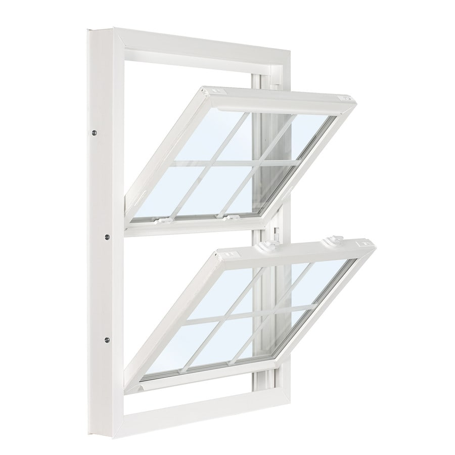 ReliaBilt 3201 Series Vinyl Double Pane Single Strength Replacement Double Hung Window (Rough Opening: 28-in x 54-in; Actual: 27.75-in x 53.75-in)