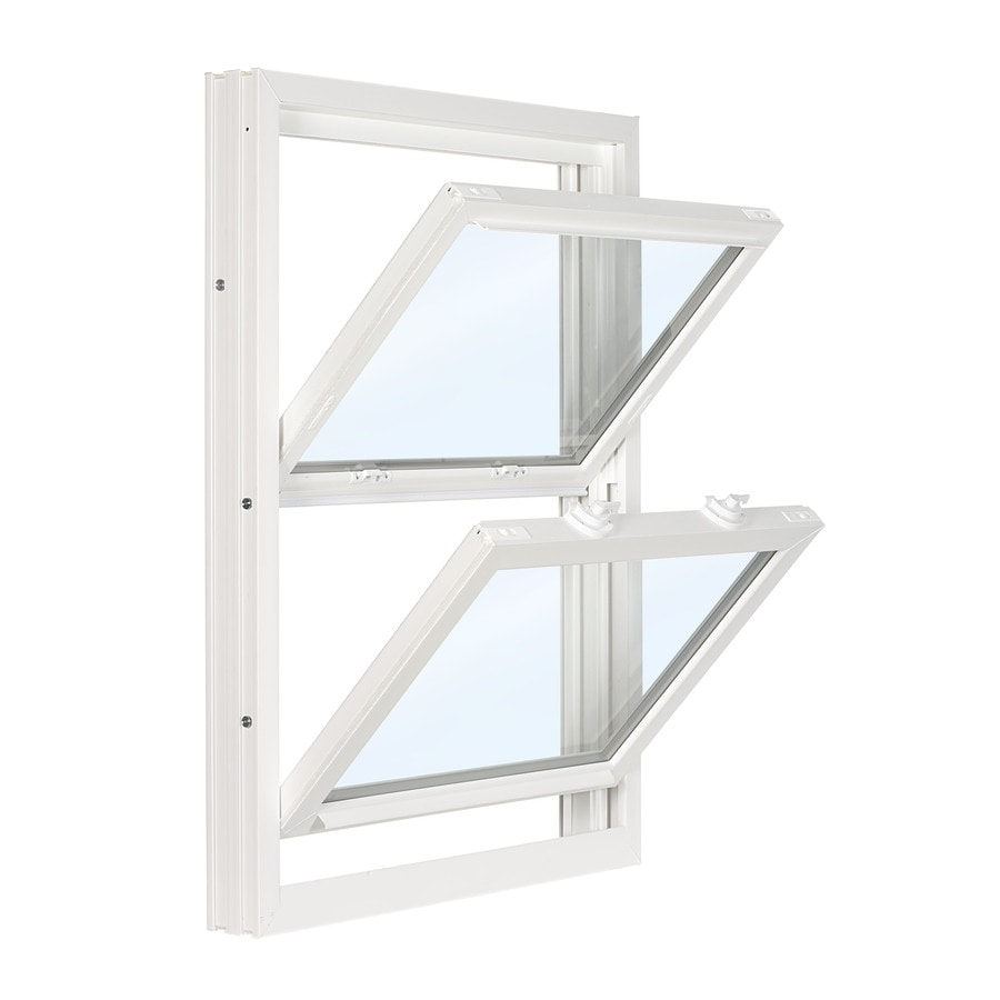 ReliaBilt 3500 Vinyl Double Pane Single Strength Replacement Double Hung Window (Rough Opening: 32-in x 45.5-in; Actual: 31.75-in x 45.25-in)