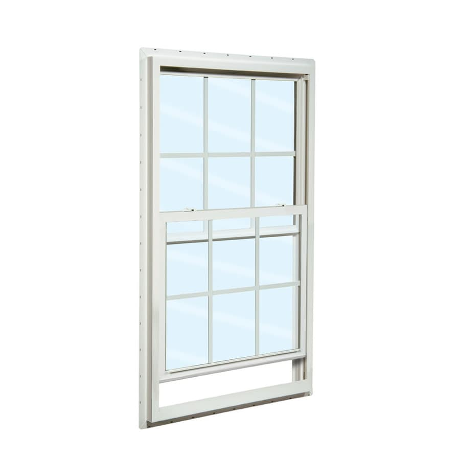 Single Hung Windows Autocad : Shop reliabilt series vinyl double pane single
