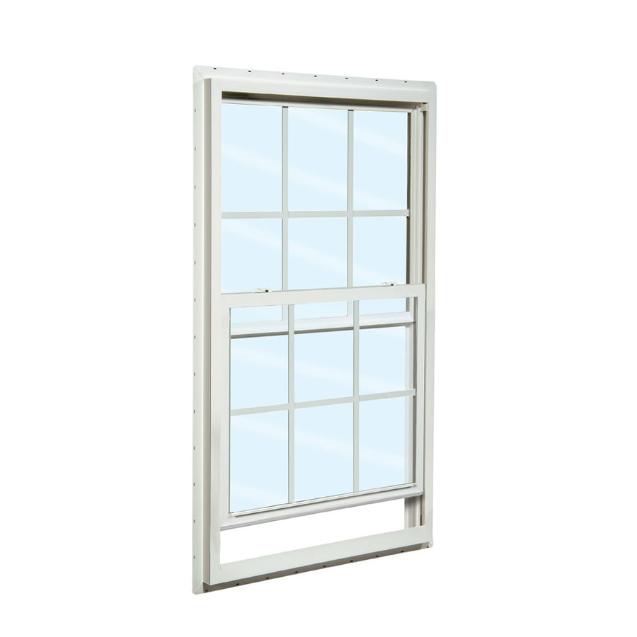 ReliaBilt 105 Series Vinyl Double Pane Single Strength Meets Egress Requirement for Use with Mobile Homes Single Hung Window (Rough Opening: 36-in x 60-in; Actual: 35.5-in x 59.5-in)