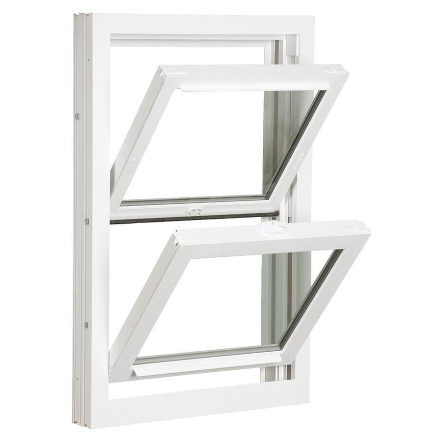 Reliabilt 3900 vinyl replacement white exterior double - Rough opening for exterior 36 inch door ...
