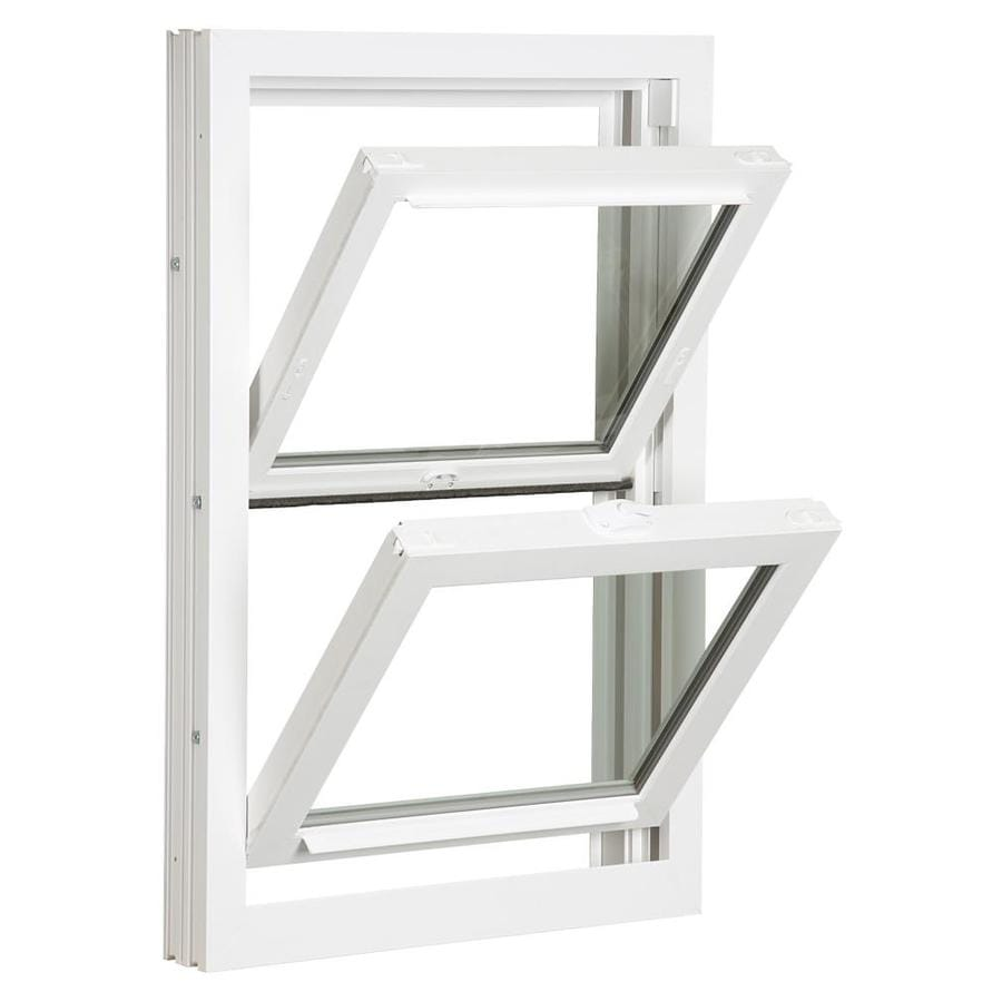 ReliaBilt 3900 Series Vinyl Double Pane Single Strength Replacement Double Hung Window (Rough Opening: 24-in x 46-in; Actual: 23.75-in x 45.75-in)