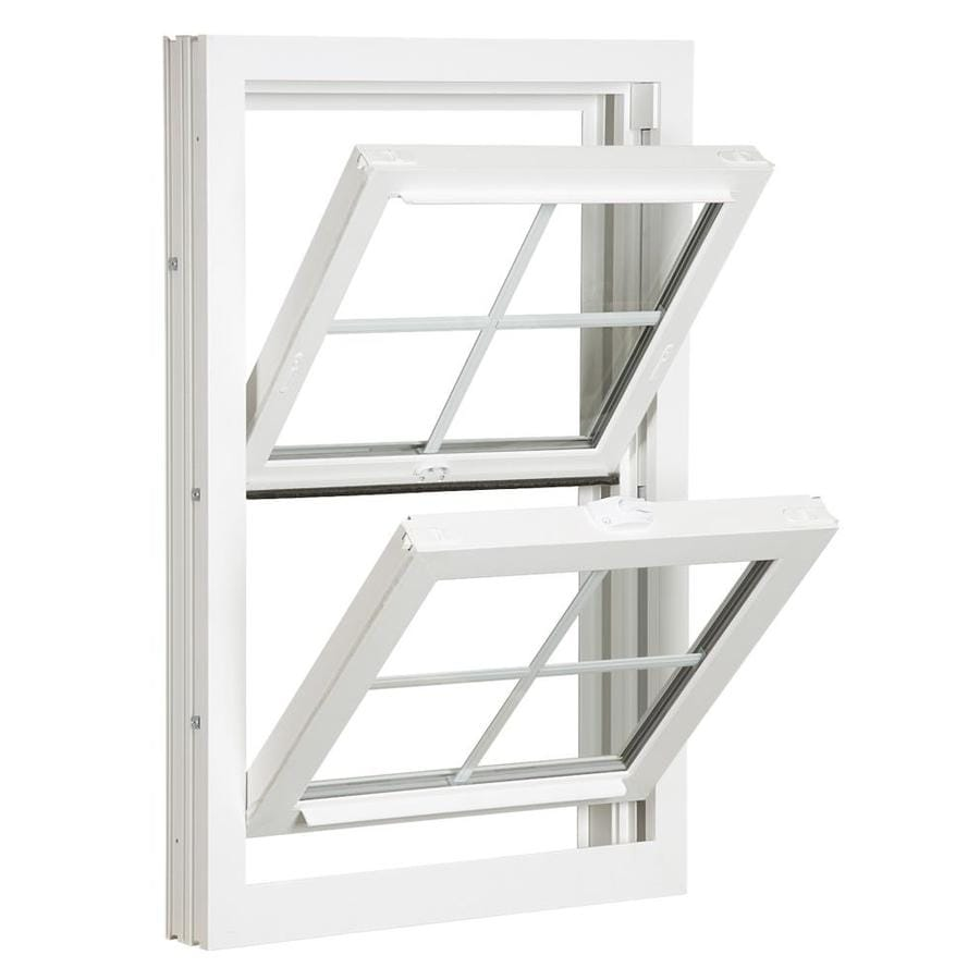 ReliaBilt 3900 Series Vinyl Double Pane Single Strength Replacement Double Hung Window (Rough Opening: 24-in x 48-in; Actual: 23.75-in x 47.75-in)