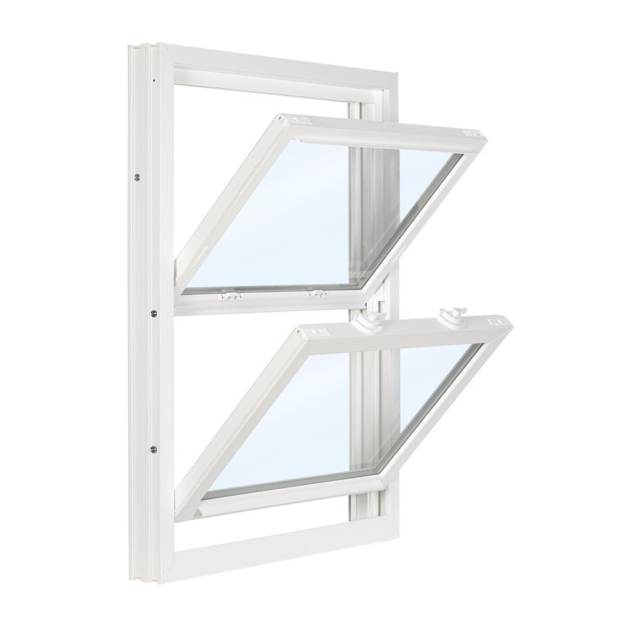 ReliaBilt 3500 Vinyl Double Pane Double Strength Replacement Double Hung Window (Rough Opening: 28-in x 45.75-in; Actual: 27.75-in x 45.5-in)