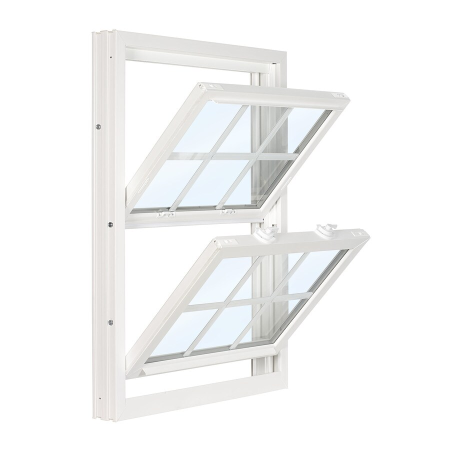 ReliaBilt 3500 Vinyl Double Pane Single Strength Replacement Double Hung Window (Rough Opening: 32-in x 37.75-in; Actual: 31.75-in x 37.5-in)