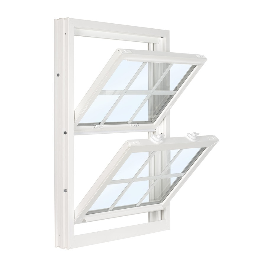 ReliaBilt 3500 Vinyl Double Pane Single Strength Replacement Double Hung Window (Rough Opening: 28-in x 61.75-in; Actual: 27.75-in x 61.5-in)