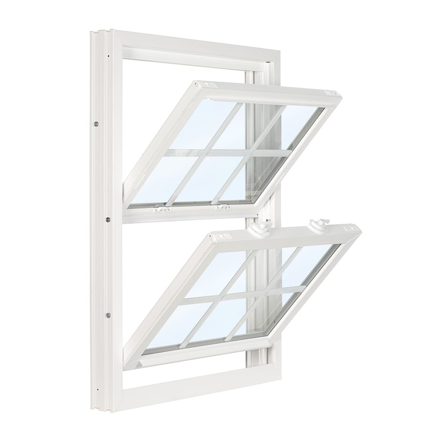 Shop reliabilt 3500 vinyl double pane double strength for Double hung replacement windows reviews