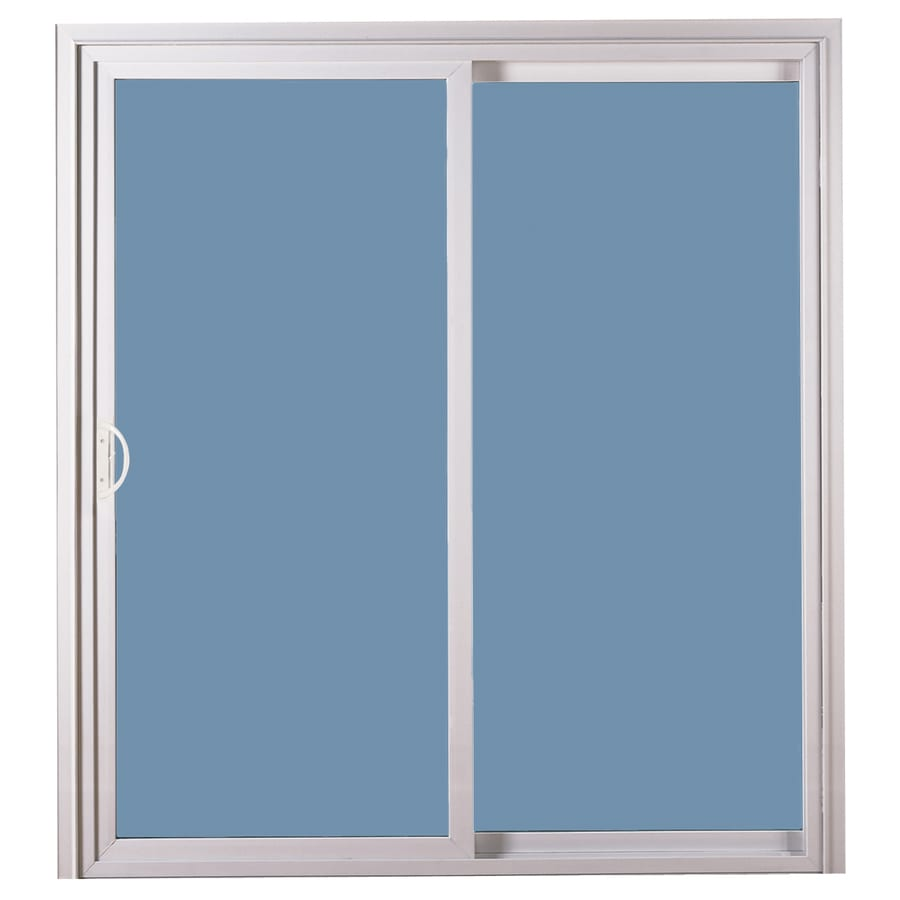 Shop reliabilt 311 series clear glass white vinyl for Glass patio doors