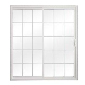 reliabilt 7075 in x 795 in grilles between the glass universal reversible white vinyl - Sliding Patio Doors