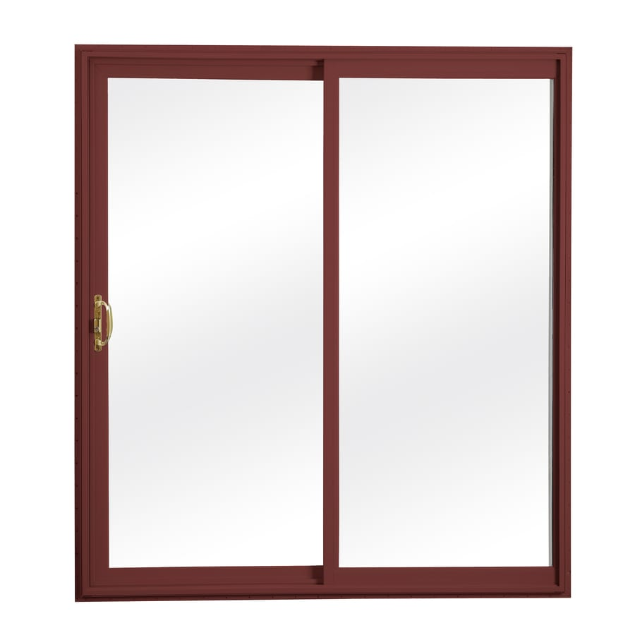 ReliaBilt 300 Series 70.75-in Clear Glass Wh Int/Red Ext Vinyl Sliding Patio Door Screen Included