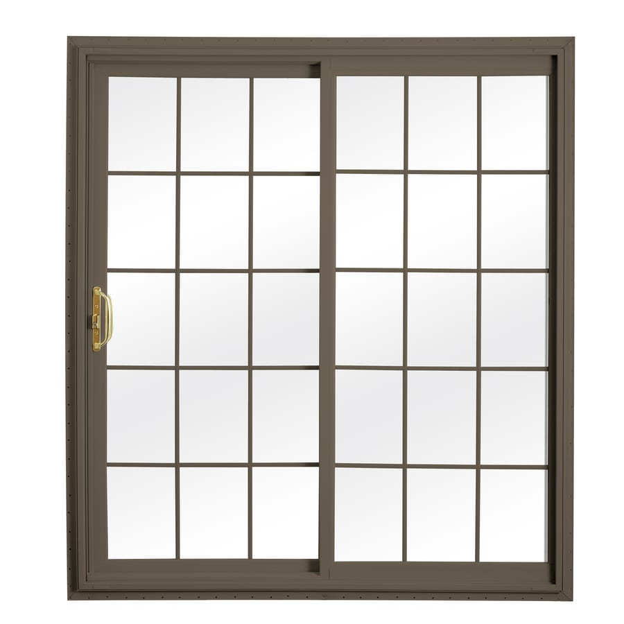 Shop reliabilt x 79 5 in grilles between the for Lowes sliding glass doors