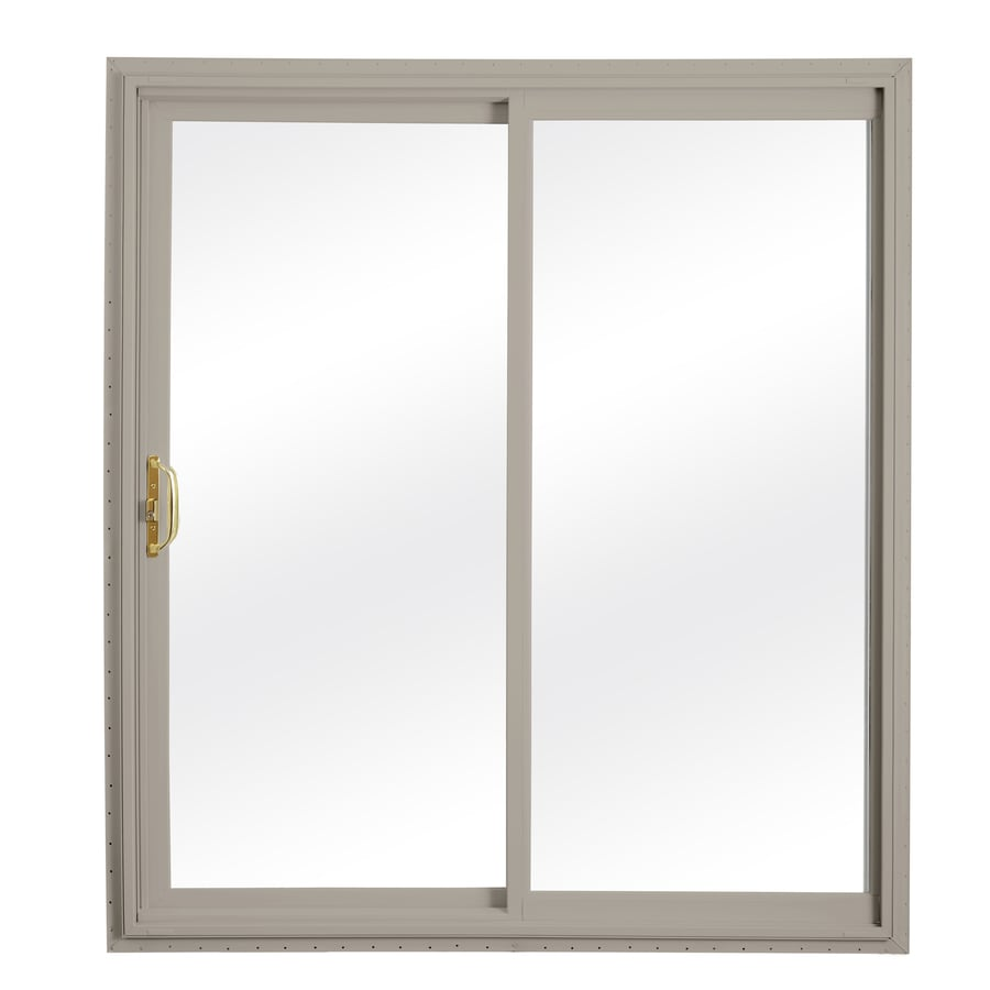 ReliaBilt 332 Series 70.75-in Clear Glass Wh Int/Clay Ext Vinyl Sliding Patio Door with Screen