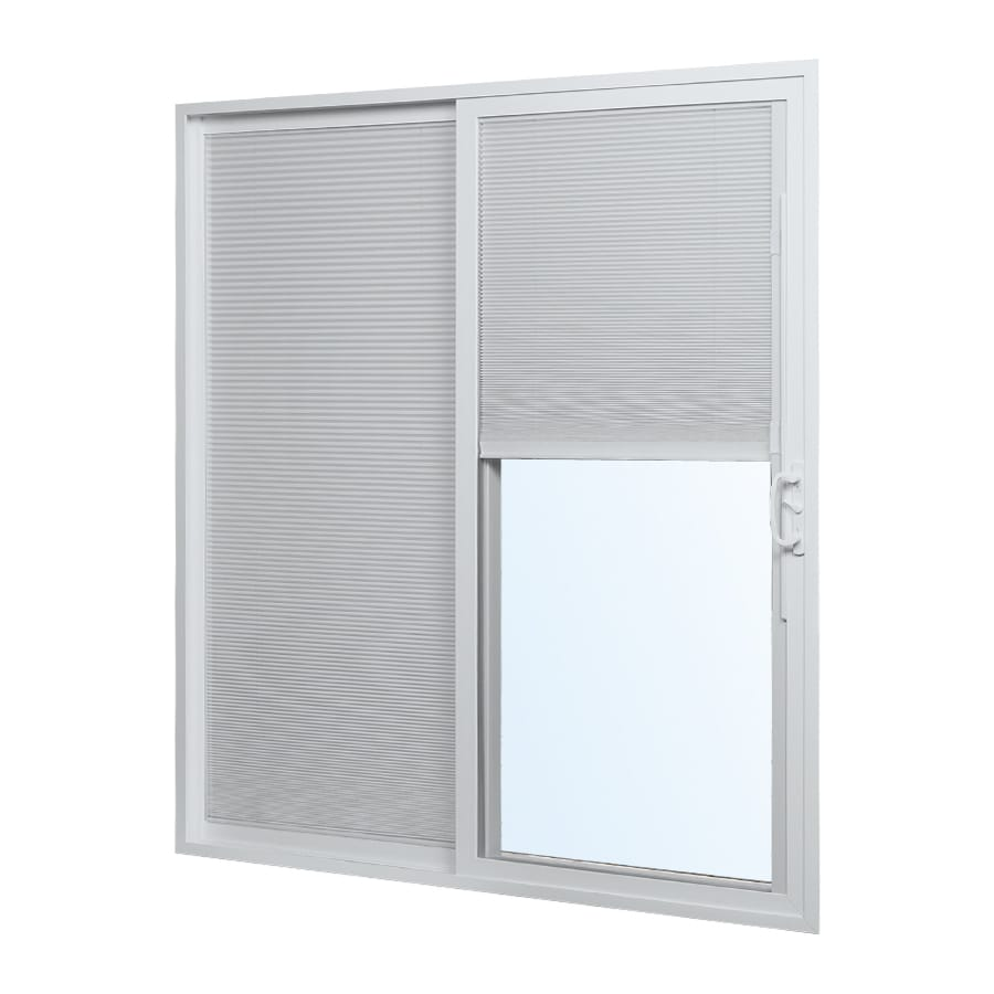 Reliabilt Blinds Between The Gl White Vinyl Sliding Patio Door With Insulating Core Common