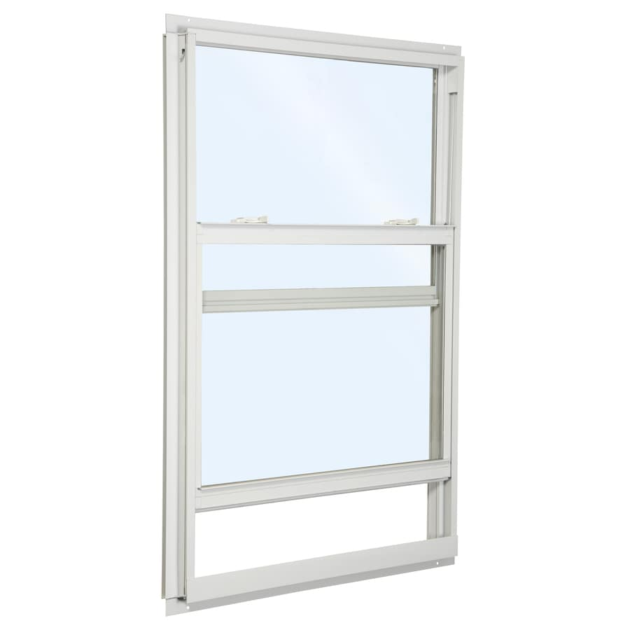 ReliaBilt 85 Aluminum Double Pane Single Strength New Construction Mobile Home Single Hung Window (Rough Opening: 36-in x 52-in; Actual: 35.5-in x 51.5-in)