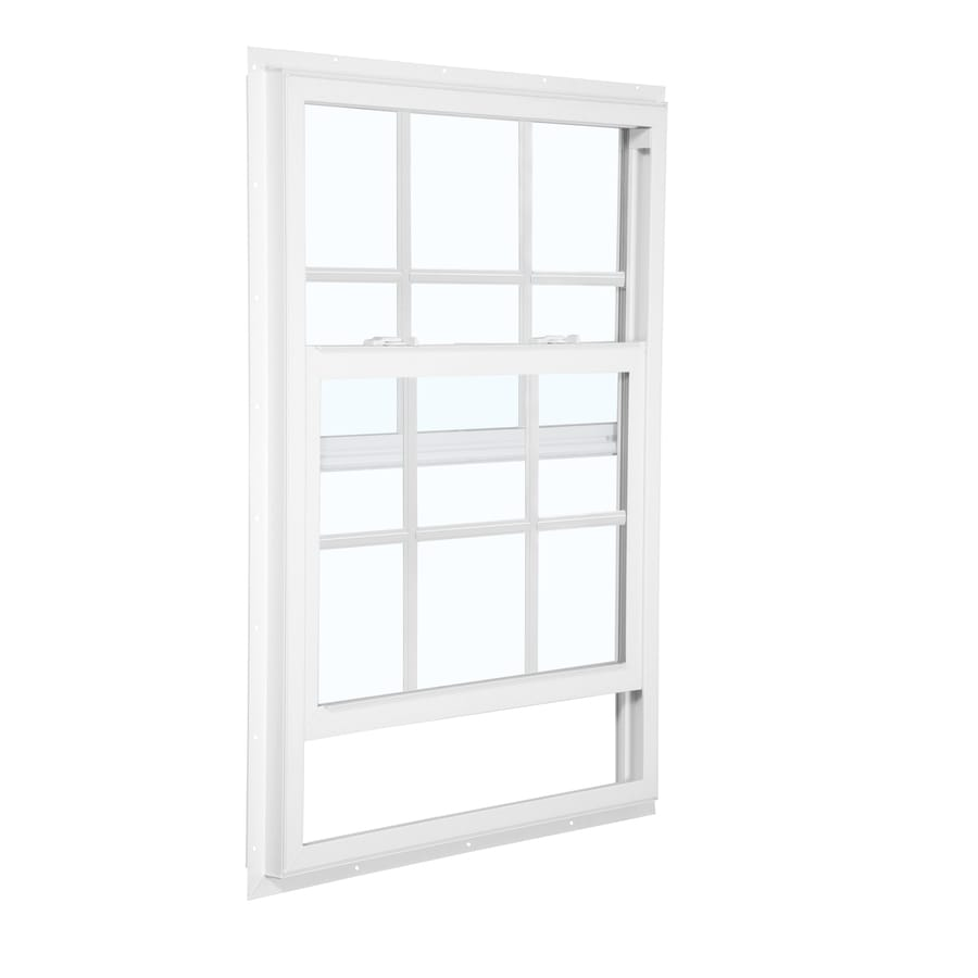 ReliaBilt 105 Series Vinyl Double Pane Single Strength Single Hung Window (Rough Opening: 36-in x 48-in; Actual: 35.5-in x 47.5-in)