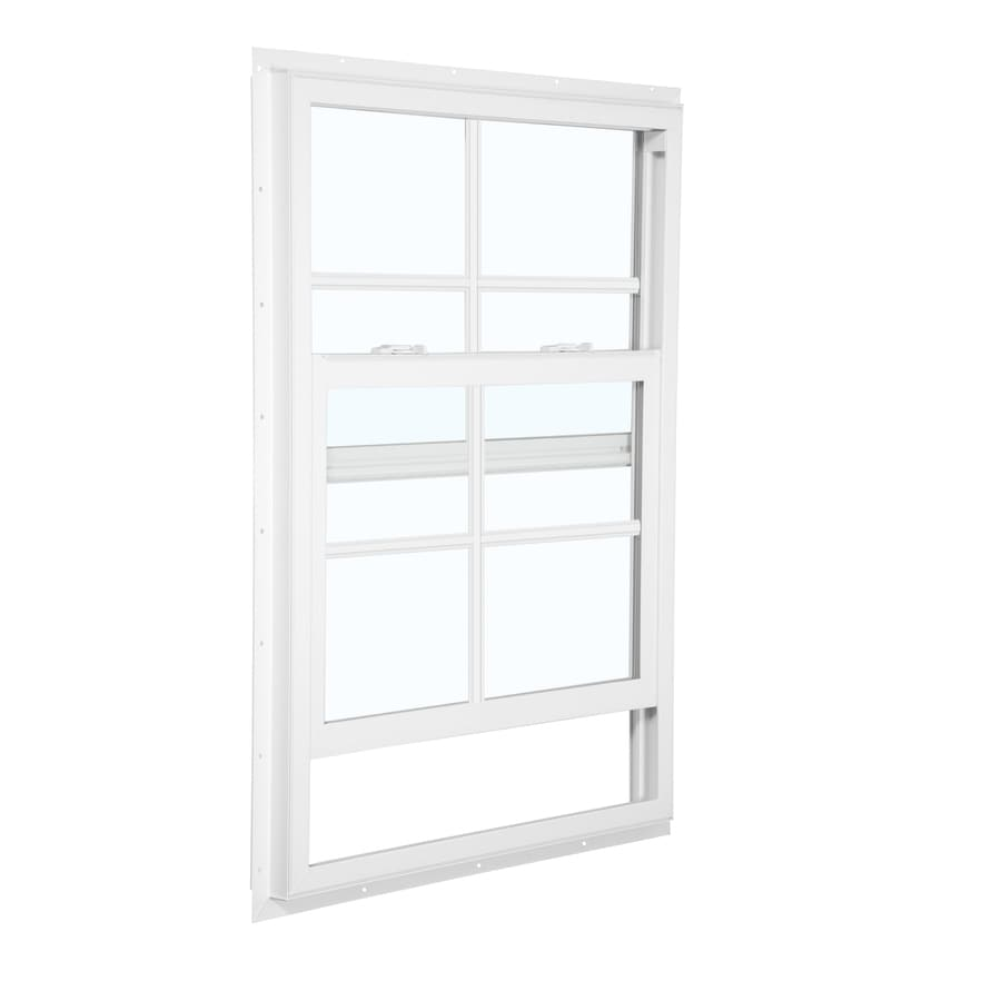 ReliaBilt 105 Series Vinyl Double Pane Single Strength Mobile Single Hung Window (Rough Opening: 24-in x 36-in; Actual: 23.5-in x 35.5-in)