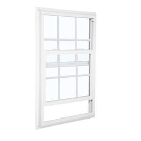 Reliabilt 3050 Series 31 5 In X 61 75 In X 2 625 In Jamb Between The Glass Vinyl Replacement White Single Hung Window In The Single Hung Windows Department At Lowes Com