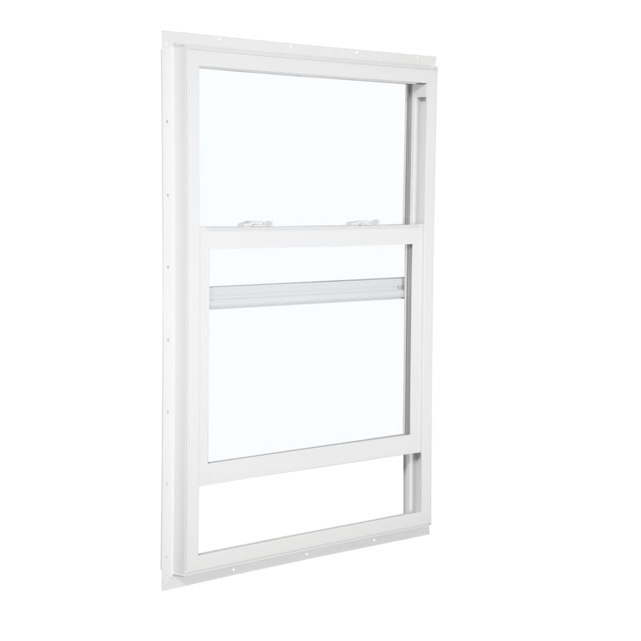 ReliaBilt 105 Series Vinyl Double Pane Single Strength Mobile Single Hung Window (Rough Opening: 28-in x 54-in; Actual: 27.5-in x 53.5-in)