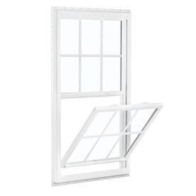 new construction windows lowes double hung reliabilt 150 vinyl new construction white exterior single hung window rough opening 36 windows at lowescom