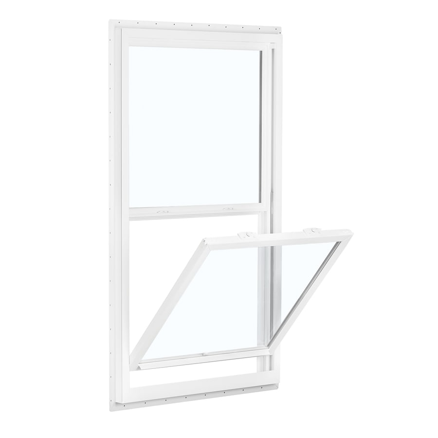 ReliaBilt 150 Series Vinyl Double Pane Single Strength for Use with Mobile Homes Single Hung Window (Rough Opening: 32-in x 52-in; Actual: 31.5-in x 51.5-in)