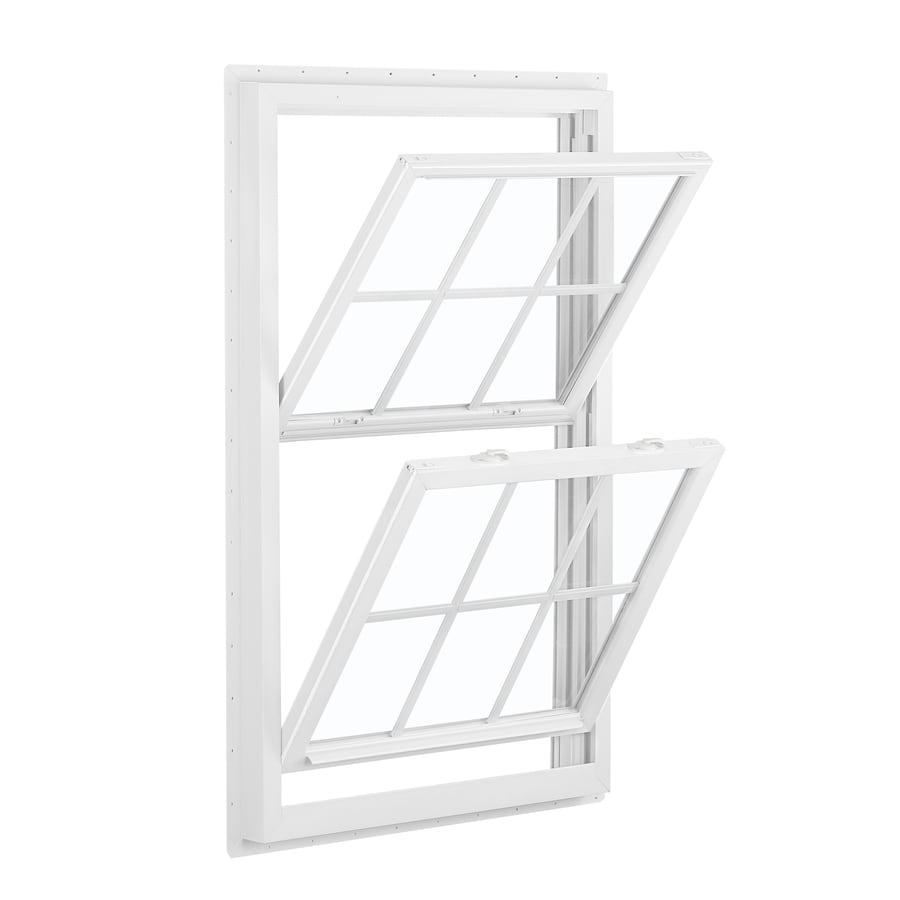 Shop reliabilt 455 vinyl new construction white double for Best double hung windows reviews