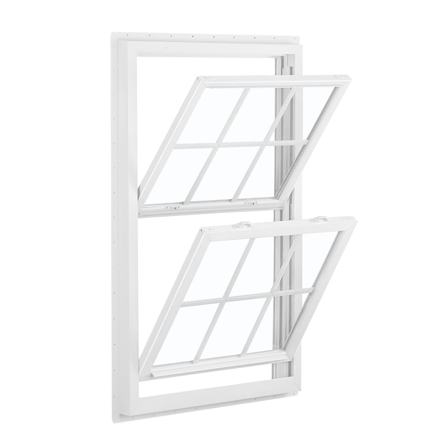 ReliaBilt 455 Series Vinyl Double Pane Single Strength Double Hung Window (Rough Opening: 32-in x 60-in; Actual: 31.5-in x 59.5-in)
