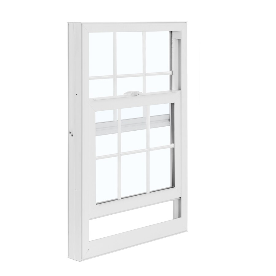 ReliaBilt 3050 Series Vinyl Double Pane Single Strength Replacement Mobile Single Hung Window Works with Iris (Rough Opening: 28-in x 38-in; Actual: 27.5-in x 37.75-in)
