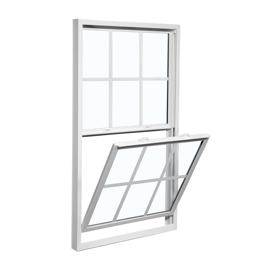 ReliaBilt 3100 Series Vinyl Double Pane Single Strength Replacement Mobile Single Hung Window Works with Iris (Rough Opening: 28-in x 54-in; Actual: 27.5-in x 53.75-in)