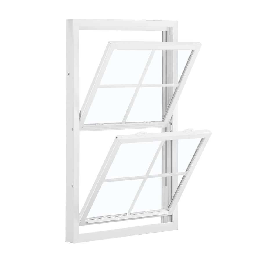 Shop reliabilt 3201 vinyl replacement white double hung for Double hung replacement windows reviews