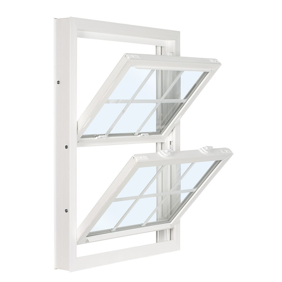ReliaBilt 3201 Series Vinyl Double Pane Single Strength Replacement Double Hung Window (Rough Opening: 36-in x 38-in; Actual: 35.75-in x 37.75-in)