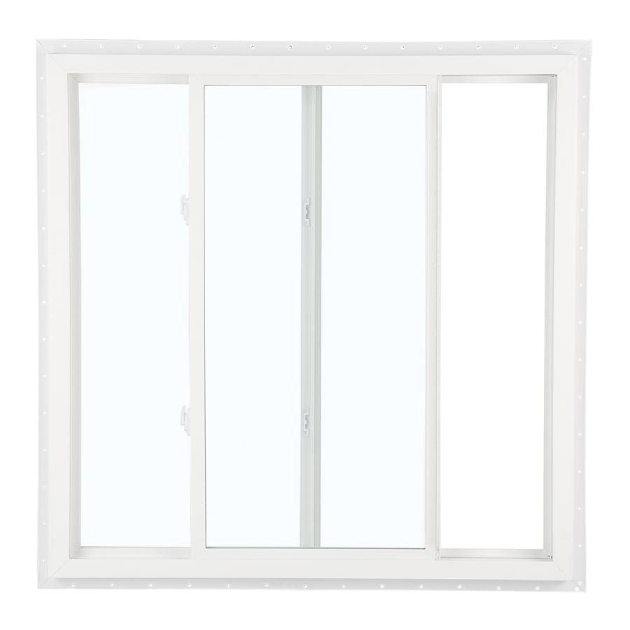 Shop reliabilt 105 series left operable vinyl double pane for Double pane vinyl windows