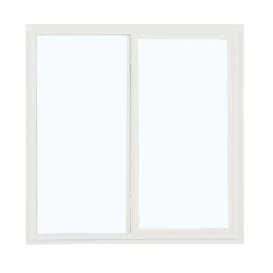 ReliaBilt 85 Series Left-Operable Aluminum Double Pane Single Strength New Construction Sliding Window (Rough Opening: 36-in x 36-in; Actual: 35.5-in x 35.5-in)