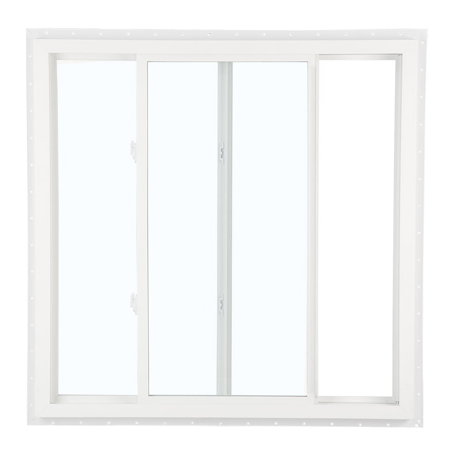 ReliaBilt 105 Series Left-Operable Vinyl Double Pane Single Strength New Construction Egress Sliding Window (Rough Opening: 48-in x 48-in; Actual: 47.5-in x 47.5-in)