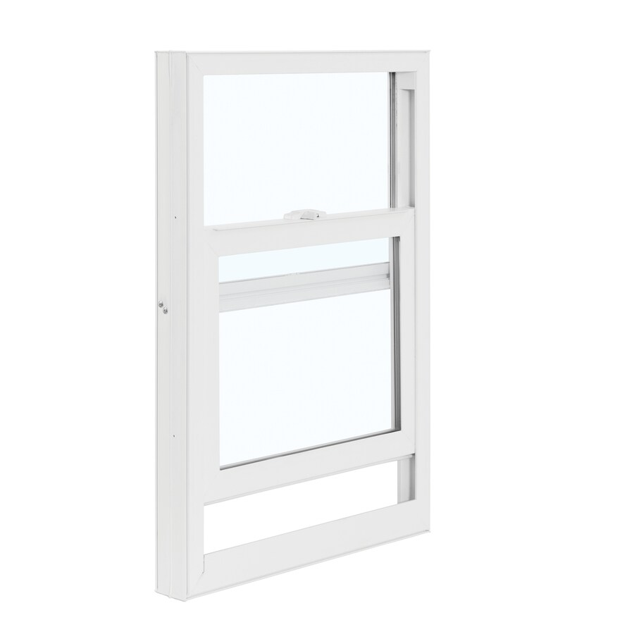 ReliaBilt 3050 Series Vinyl Double Pane Single Strength Replacement Mobile Home Single Hung Window Works with Iris (Rough Opening: 28-in x 46-in; Actual: 27.5-in x 45.75-in)