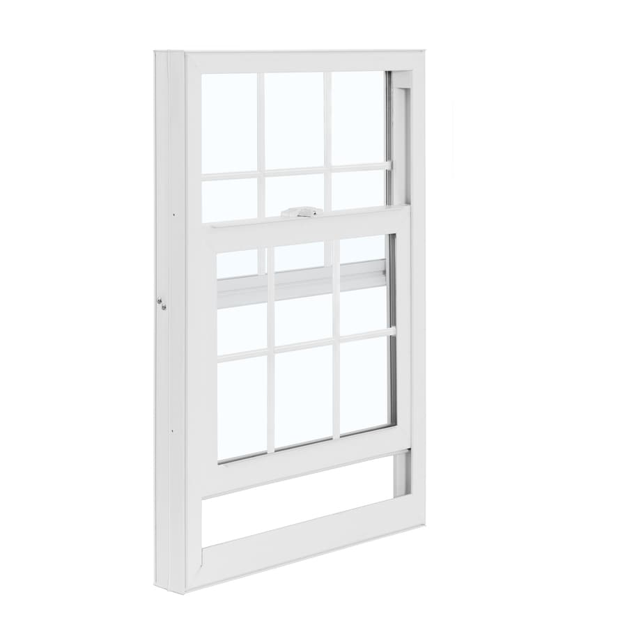 ReliaBilt 3050 Series Vinyl Double Pane Single Strength Replacement for Use with Mobile Homes Single Hung Window Works with Iris (Rough Opening: 28-in x 46-in; Actual: 27.5-in x 45.75-in)