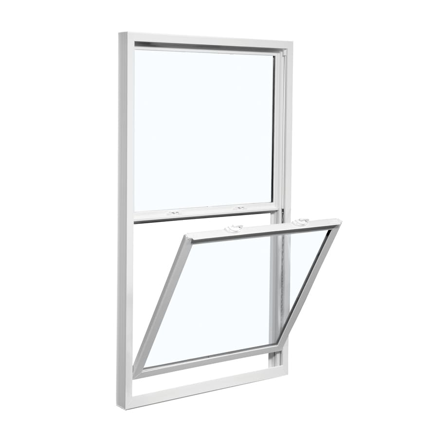 ReliaBilt 3100 Series Vinyl Double Pane Single Strength Replacement Mobile Single Hung Window Works with Iris (Rough Opening: 28-in x 46-in; Actual: 27.5-in x 45.75-in)