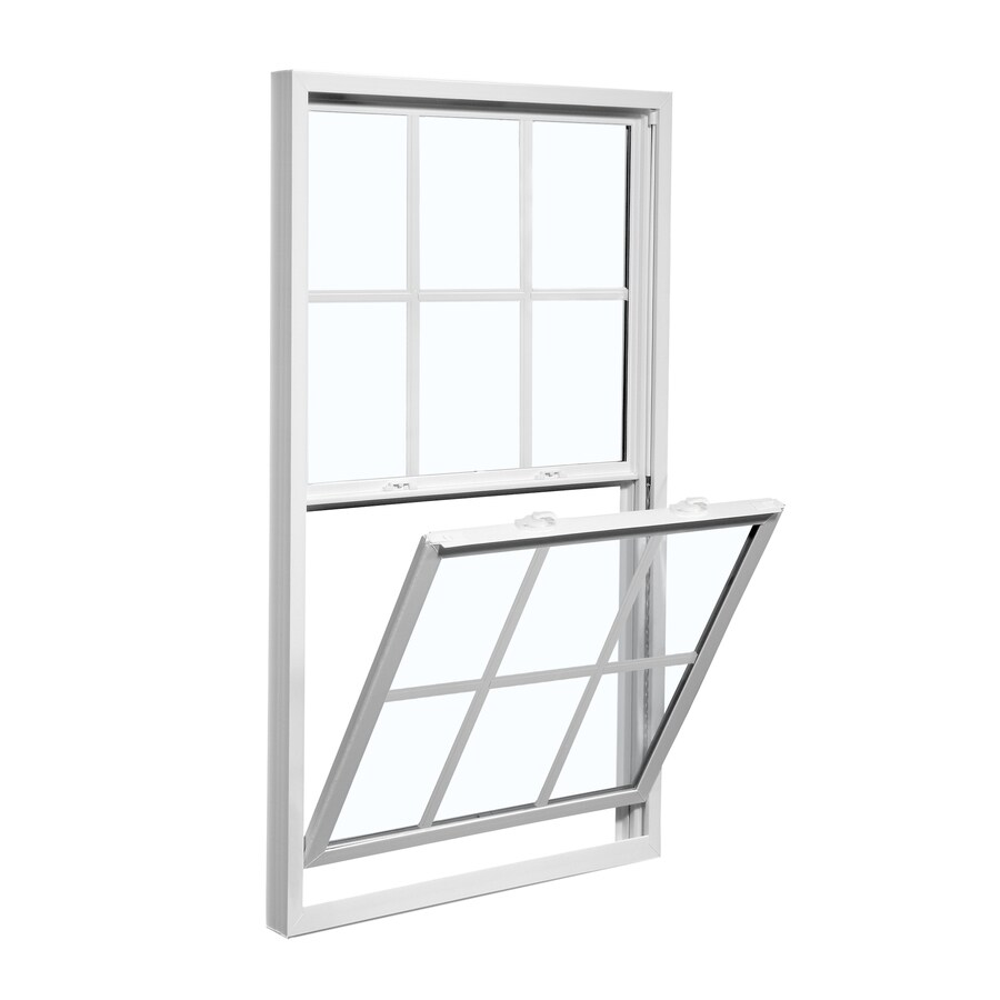ReliaBilt 3100 Series Vinyl Double Pane Single Strength Replacement Mobile Home Single Hung Window Works with Iris (Rough Opening: 28-in x 46-in; Actual: 27.5-in x 45.75-in)