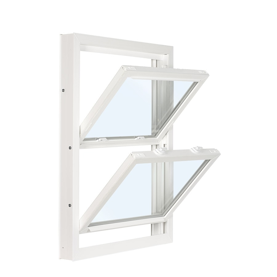 ReliaBilt 3201 Series Vinyl Double Pane Single Strength Replacement Double Hung Window (Rough Opening: 36-in x 46-in; Actual: 35.75-in x 45.75-in)